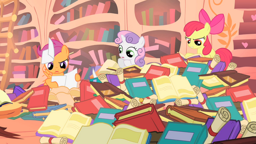 Cutie Mark Crusaders librarians S1E18.png