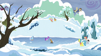 Ponies enjoying winter S5E5