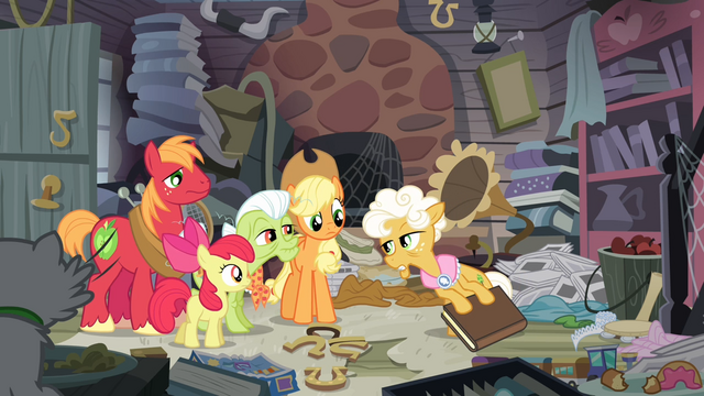 File:The Apples see Goldie pulling a book S4E09.png