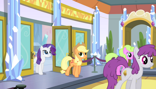 File:Applejack and Rarity enter the stadium lobby S4E24.png