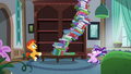 Book tower about to fall onto Starlight S5E26.png
