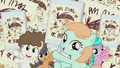 Foals hold picket signs calling for a vote for Pip S5E18.png