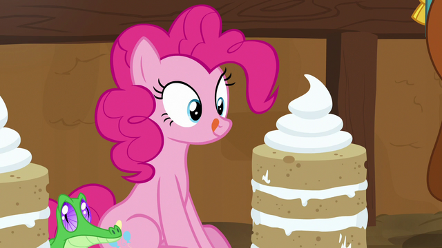 File:Pinkie Pie looks at yak cake and licks her lips S7E11.png