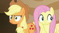 Applejack and Fluttershy become suspicious S6E20.png