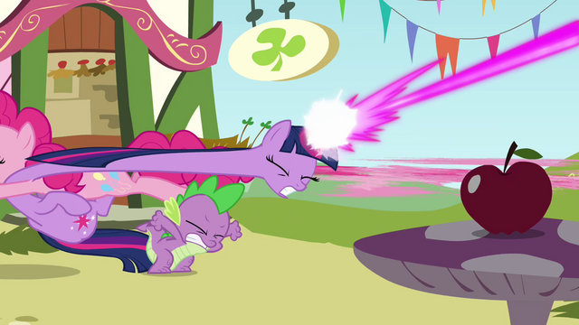 File:Pinkie Pie crashing into Twilight S3E3.png