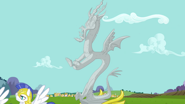 File:Stone Discord arrives to Ponyville S3E10.png