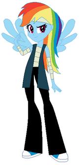 FANMADE Rainbow Dash Human Pirate