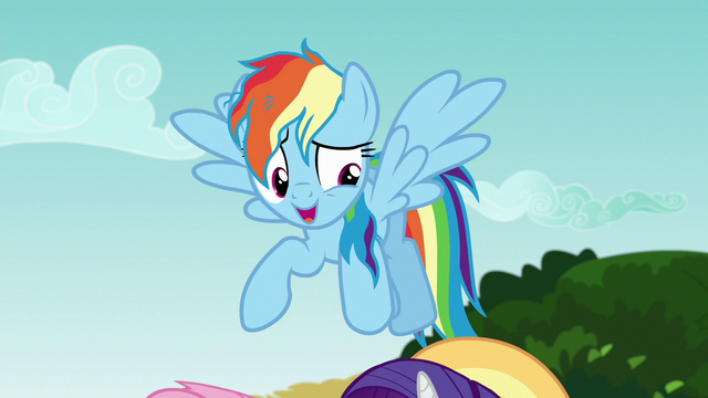"""File:Rainbow """"I'll come and get those storm clouds"""" S6E21.png"""