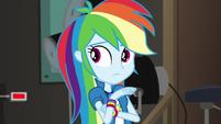 Rainbow Dash hears the nervous P.A. EGS2