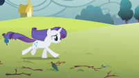 Rarity gallops toward picnic table S1E08