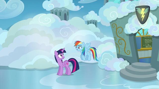 "File:Rainbow Dash ""nopony fell asleep"" S6E24.png"