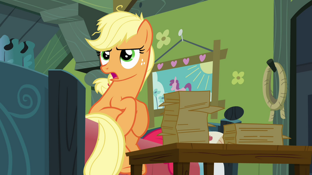 File:Applejack 'Granny Smith handed me the reins' S3E08.png