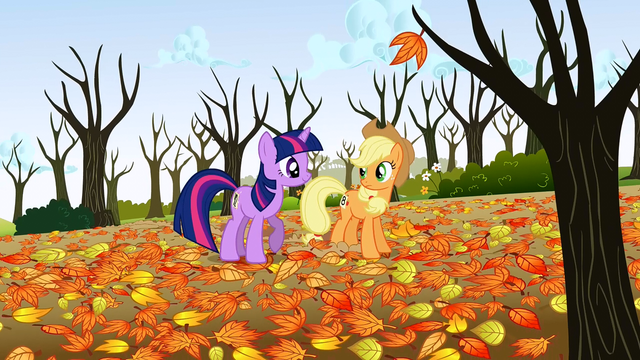 "File:Twilight and Applejack ""beautiful, isn't it"" S1E13.png"