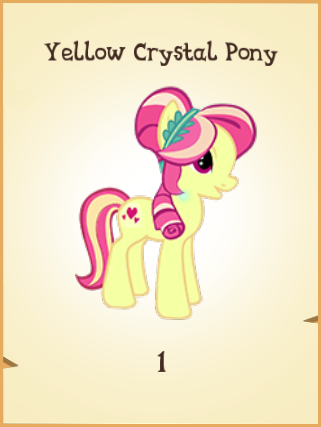 File:Yellow Crystal Pony MLP Gameloft.png