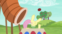 Fluttershy collapses out of tunnel's other end S6E18