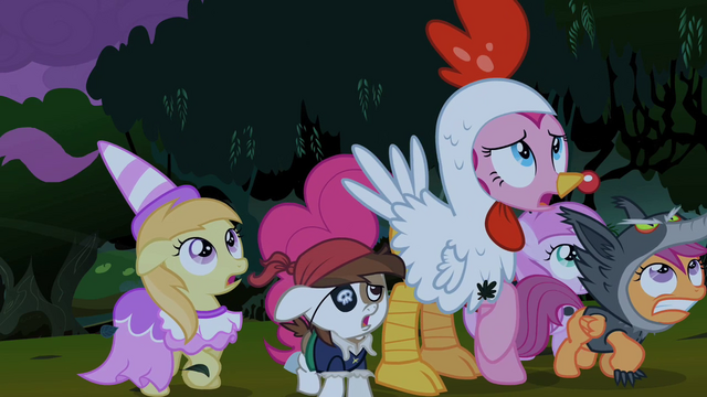 File:Pinkie Pie and foals backing up S2E04.png