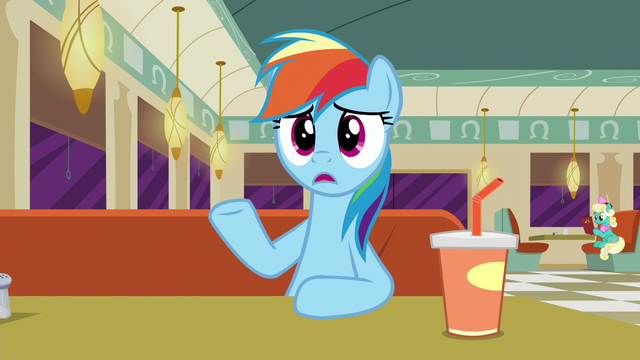 "File:Rainbow ""you're not writing this down, are you?"" S6E9.png"
