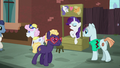 Rarity opens a friendship advice stand S5E16.png