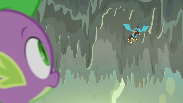 File:Spike watches Ember fly away S6E5.png