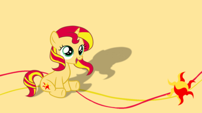FANMADE Cute Sunset Shimmer filly by mlp ponydesigner