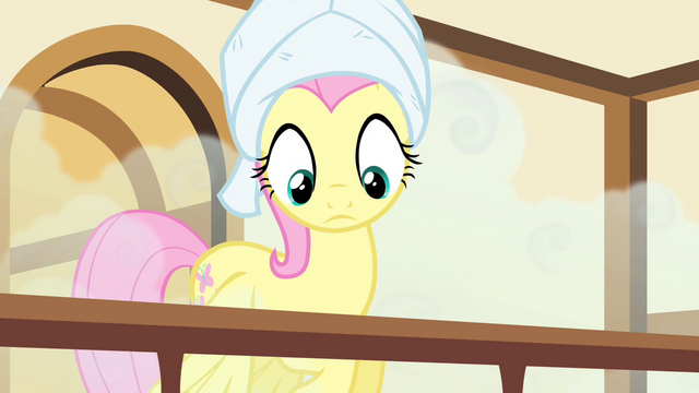 File:Fluttershy hears Pinkie praising her S4E14.png