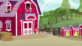 Apple Bloom painting the Sweet Apple Acres barn S7E8.png