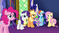 Main 5 and Spike wait for Twilight's reaction S5E3.png