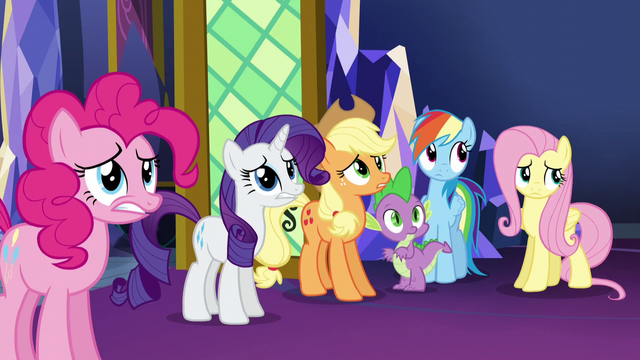 File:Main 5 and Spike wait for Twilight's reaction S5E3.png
