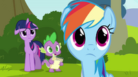 Rainbow listening to Spike S2E22