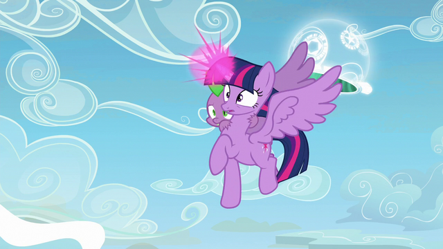 File:Twilight and Spike see something happening S5E26.png