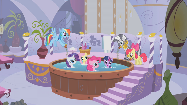 File:Twilight and friends in the herbal bubble bath S1E09.png