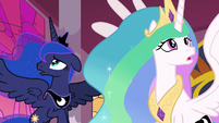 Celestia and Luna notice the nightmare change S7E10