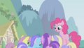 Pinkie Pie above other ponies S1E3.png