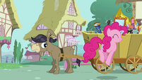 Pinkie Pie sings random song for Cranky S02E18