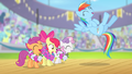Rainbow Dash and CMC laughing S4E05.png