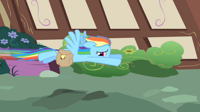 File:Rainbow Dash flying away S1E25.png