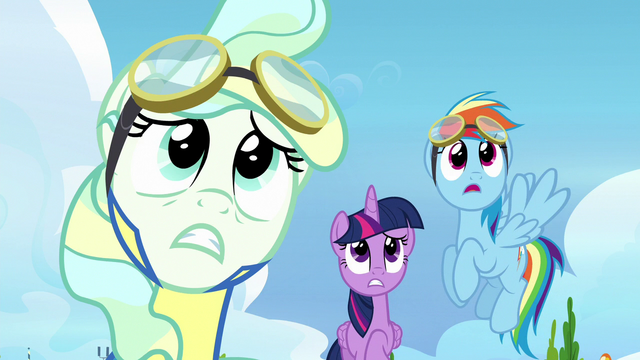 File:Twilight, Rainbow, and Vapor watch Sky fly off S6E24.png