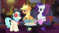 Applejack asking Coco what happened S5E16