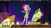 Pinkie surrounded by Hawaiian mess EG2