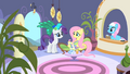 Rarity and Fluttershy arrive at the spa S1E20.png