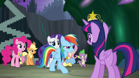 Rainbow Dash objecting S4E02