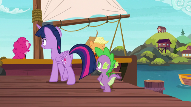 File:Twilight and Spike walking to the boat S6E22.png