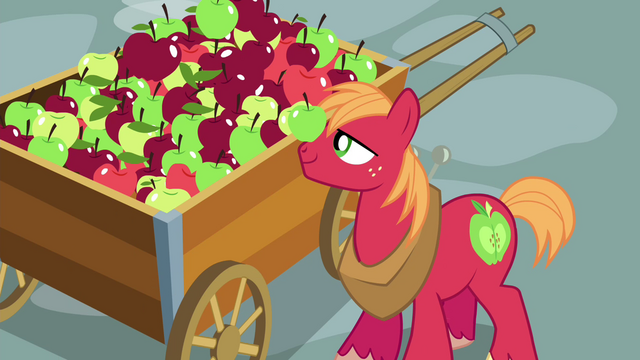 File:Big McIntosh with an apple on his nose S4E21.png