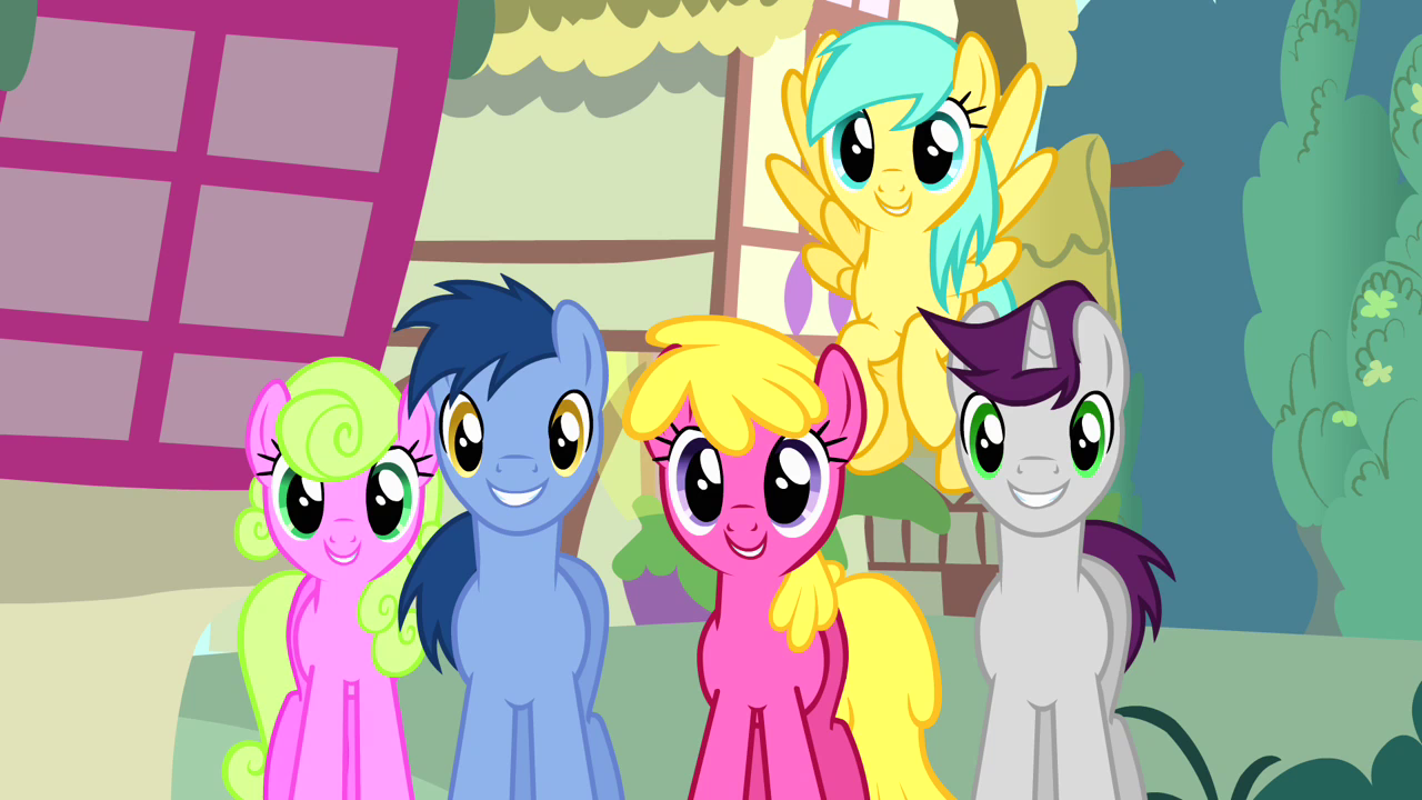Image  Crowd of ponies no other pony like her S4E12png  My Lit # Sunshower Pony_154015