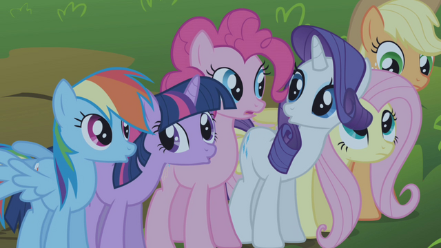 File:Mane 6 hearing someone crying S1E02.png