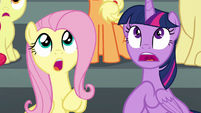 Twilight and Fluttershy in shock S6E7