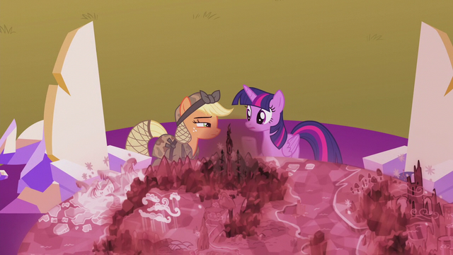 File:Applejack still skeptical of Twilight S5E25.png