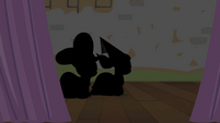 Silhouettes of Apple Bloom and Scootaloo S4E19