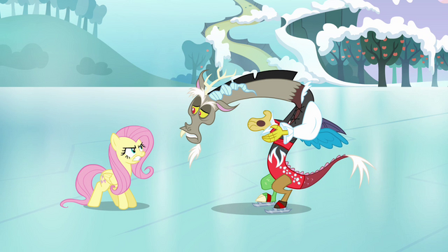 "File:Discord and Fluttershy ""what's wrong, pal?"" S03E10.png"