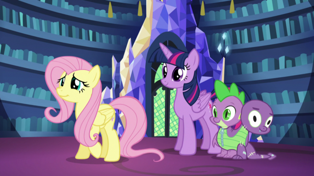 File:Fluttershy with Twilight and Spike S5E21.png